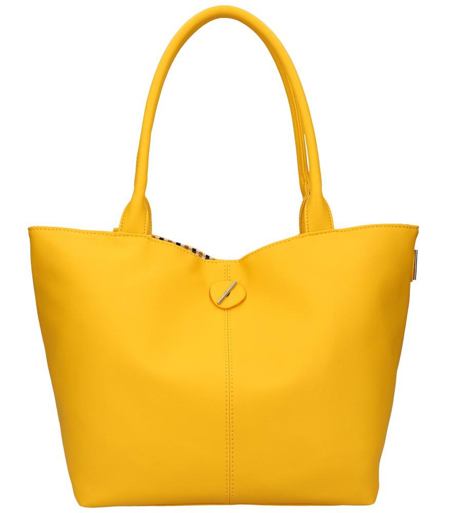 DAVID JONES Oboustranná dámská kabelka přes rameno žlutá