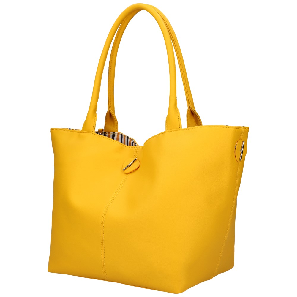 DAVID JONES Obojstranná dámska kabelka cez rameno žltá