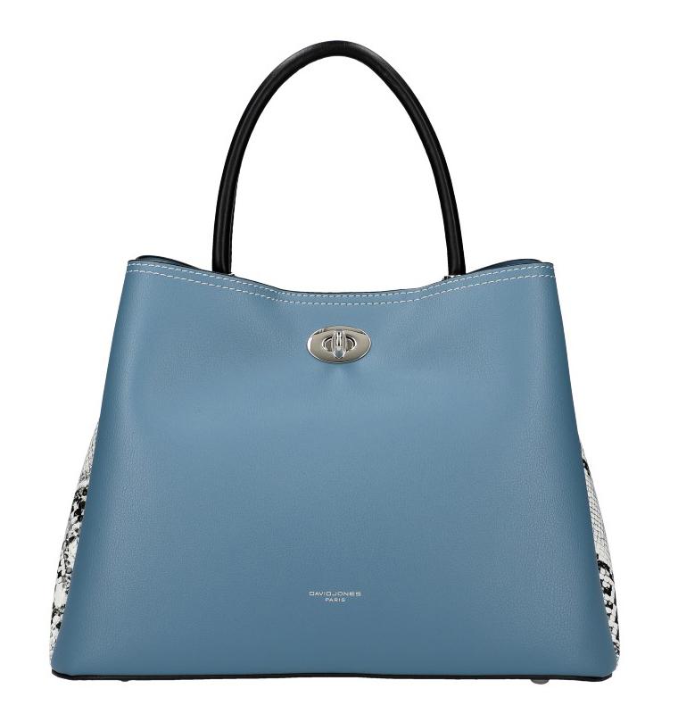 DAVID JONES Modrá dámská kabelka s hadími boky CM5735