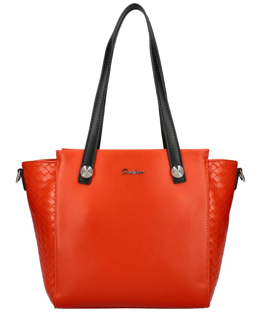 DAVID JONES Tehlovo červená dámska kabelka cez rameno CM6081