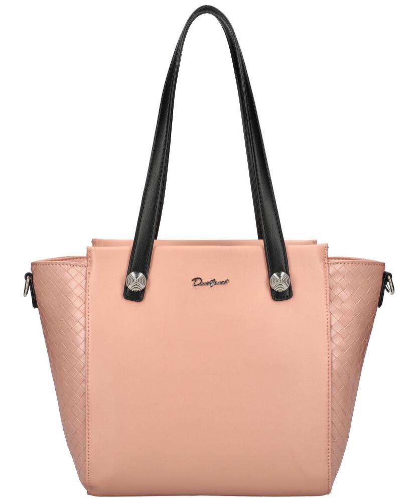 DAVID JONES Růžová dámská kabelka přes rameno CM6081