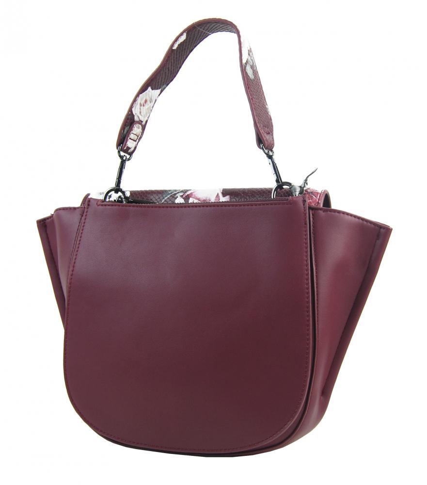 DIANA & CO Květinová dámská taška s klopou černá