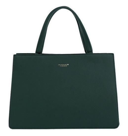 DIANA & CO Dámská kabelka do ruky tmavě zelená