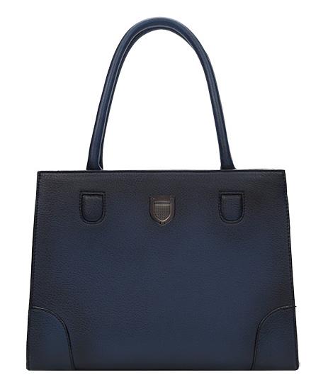 DIANA & CO Stínovaná prostorná dámská kabelka tmavě modrá