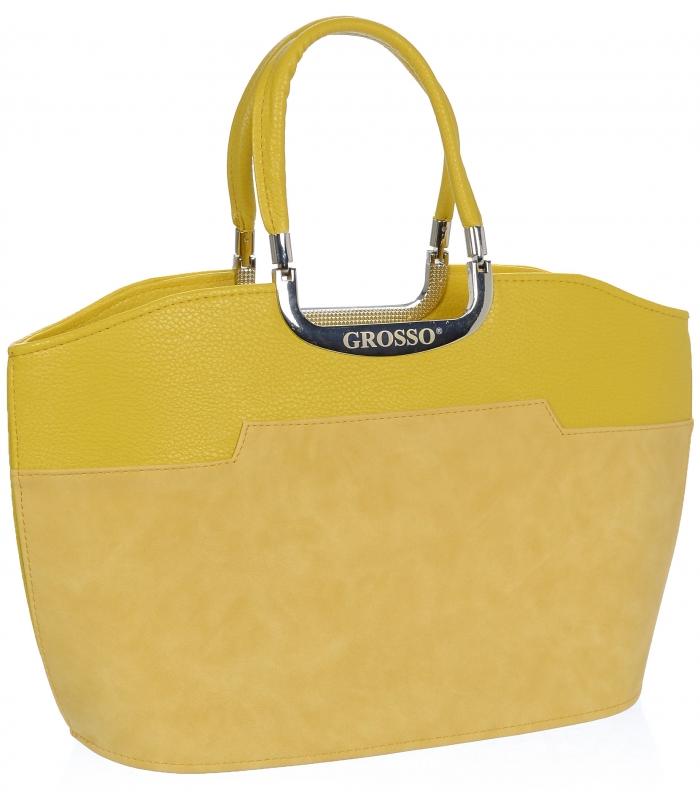 GROSSO Žlutá dámská kabelka do ruky S5
