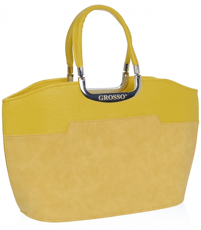 Žlutá hořčicová matná kabelka do ruky S5 GROSSO