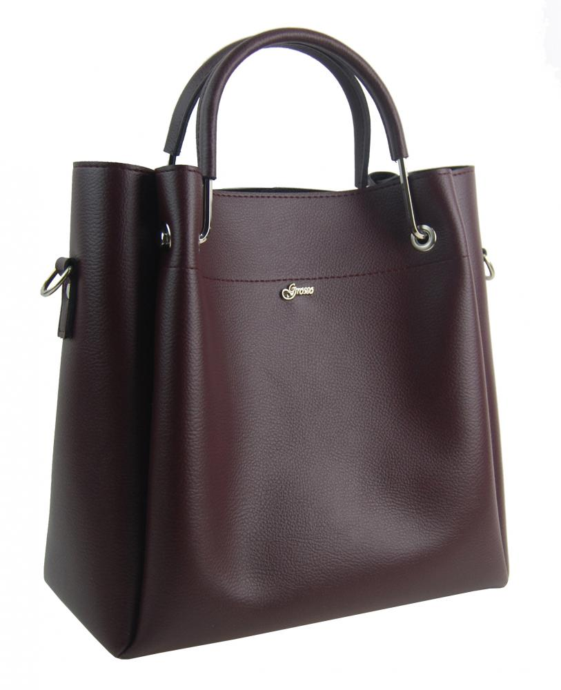 Elegantní dámská kabelka S728 bordó GROSSO