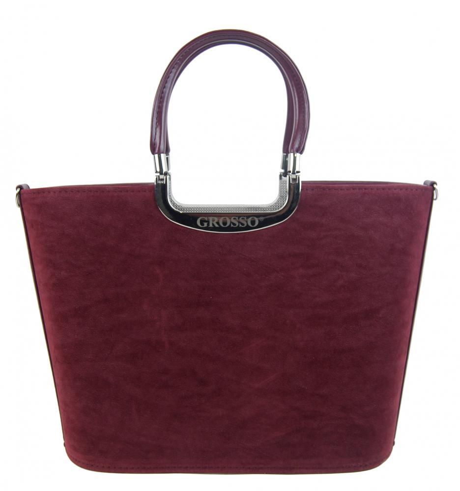 GROSSO Vínová dámská kabelka do ruky S7