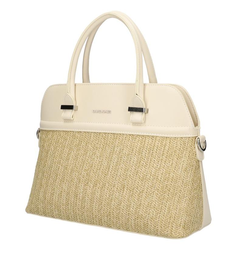 DAVID JONES krémová dámská kabelka do ruky 6287-1