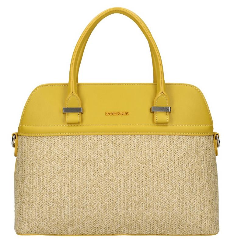 DAVID JONES hořčicově žlutá dámská kabelka do ruky 6287-1