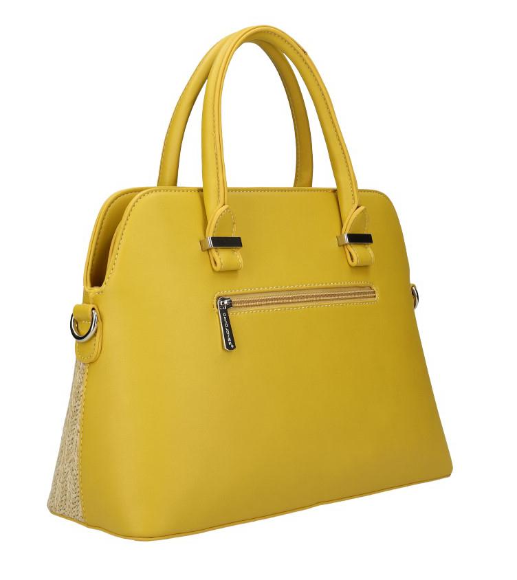 DAVID JONES horčicovo žltá dámska kabelka do ruky 6287-1