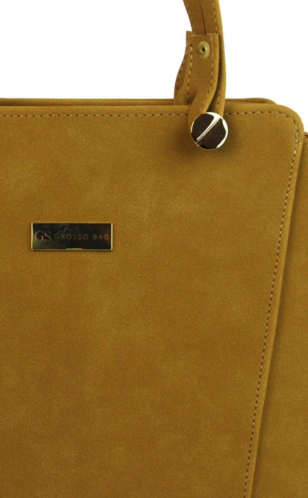 Velbloudí hnědo-žlutá dámská kabelka přes rameno S640 GROSSO