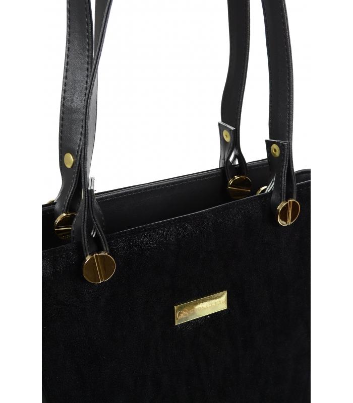 Černá dámská kabelka přes rameno S640 GROSSO