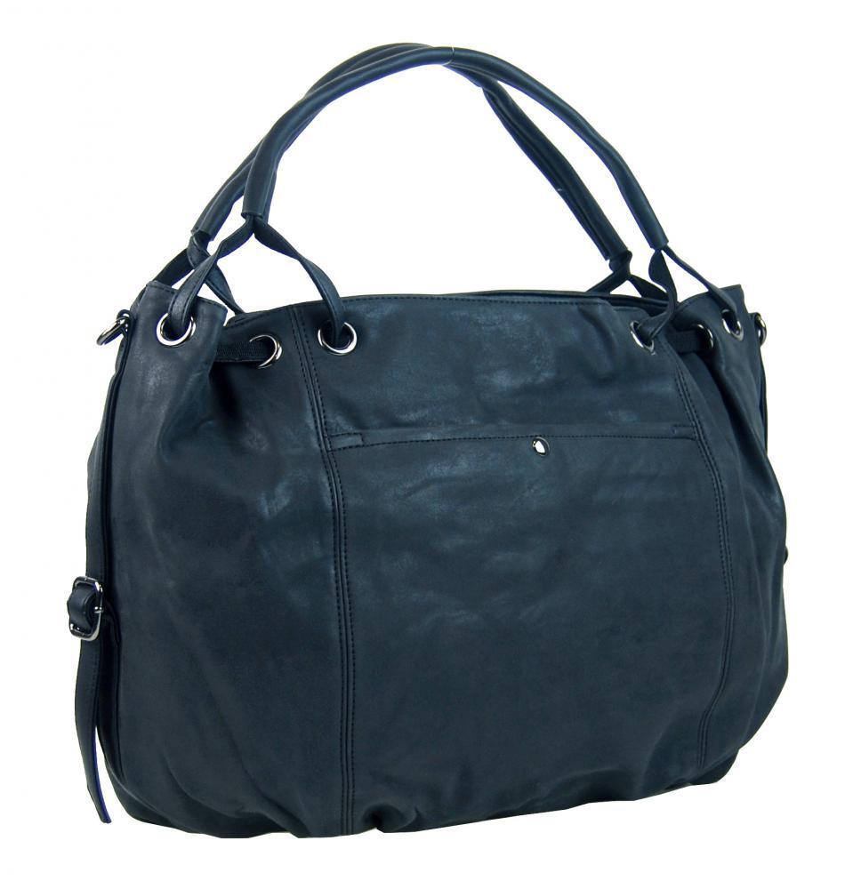 Velká dámská kabelka z broušené ekokůže H16093 modrá