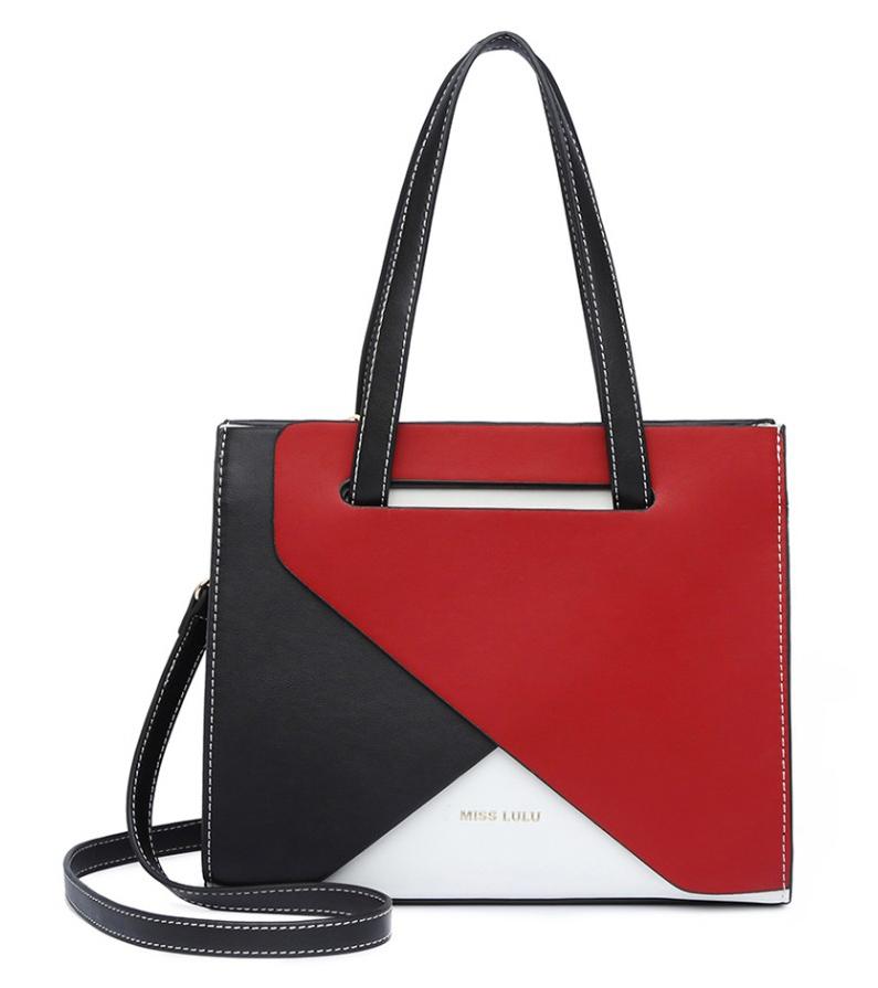 Červená dámská kabelka do ruky i na rameno Miss Lulu