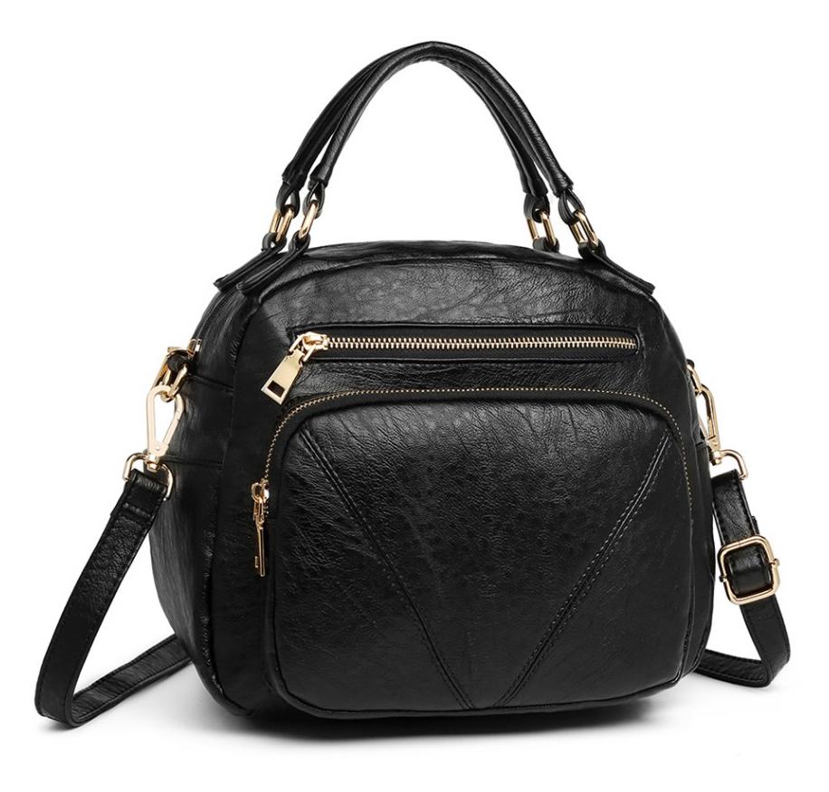 Čierna praktická dámska kabelka Miss Lulu
