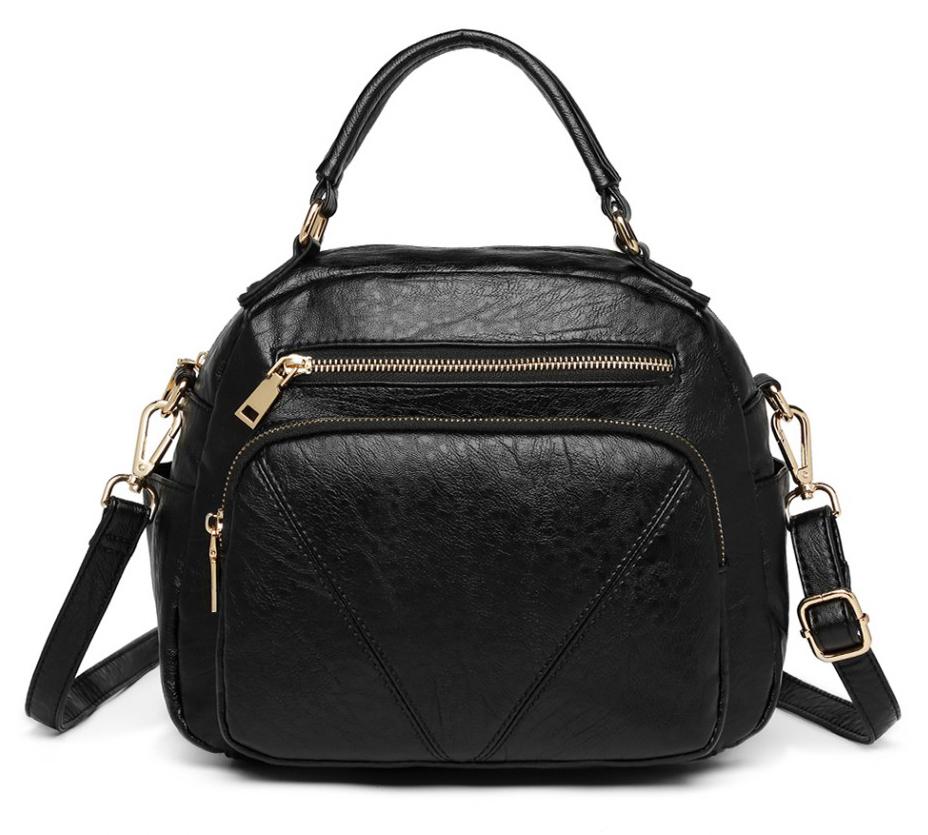 Černá praktická dámská kabelka Miss Lulu