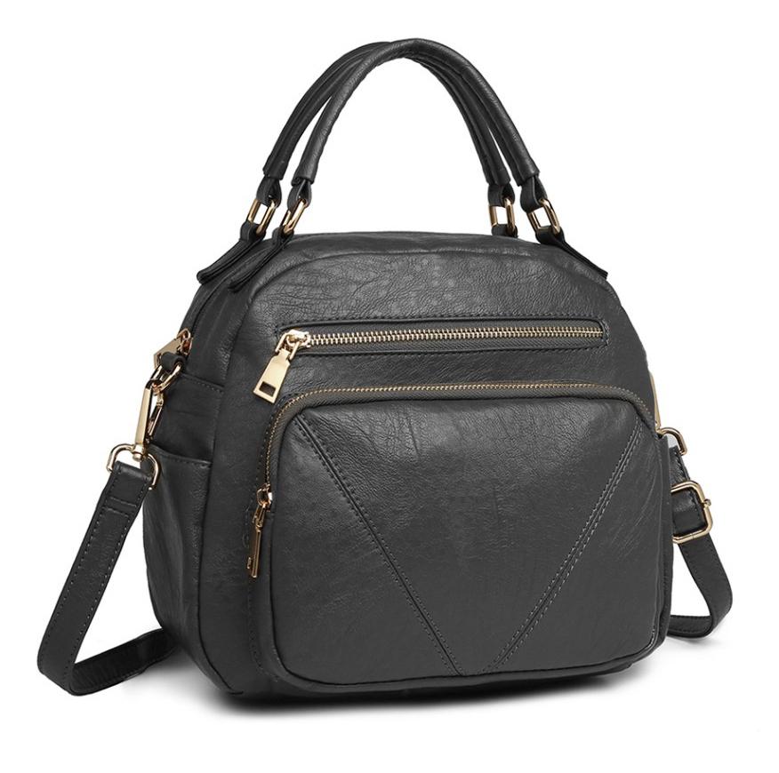 Tmavo sivá praktická dámska kabelka Miss Lulu