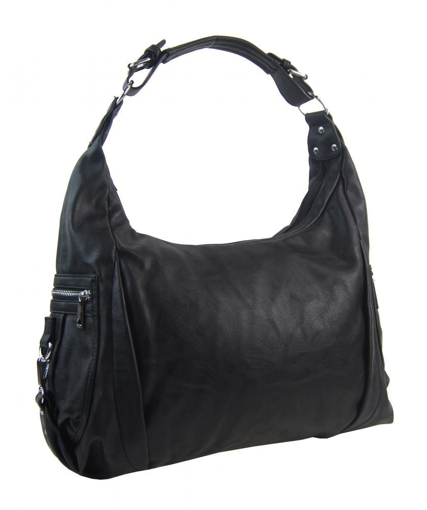 Čierna dámska kabelka cez plece 109-MH
