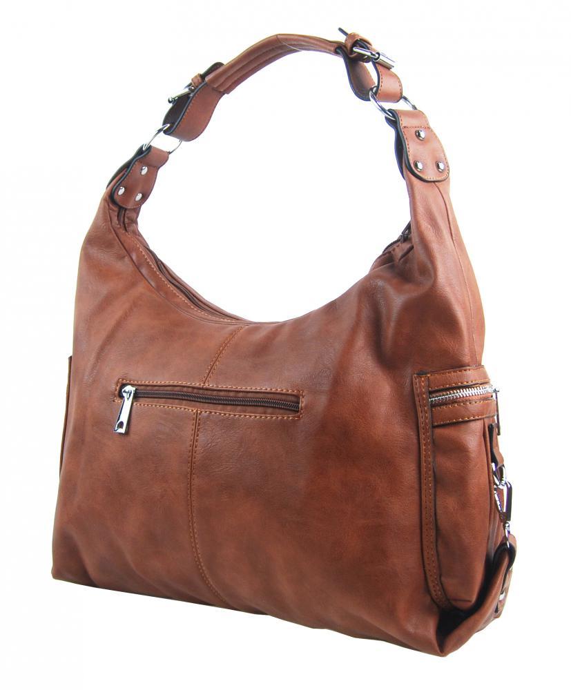 Hnedá dámska kabelka cez plece 109-MH
