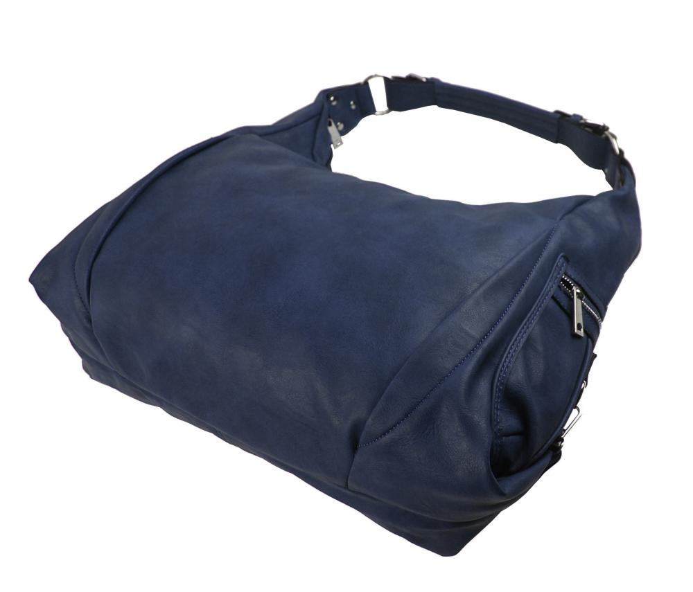 Tmavo modrá dámska kabelka cez plece 109-MH