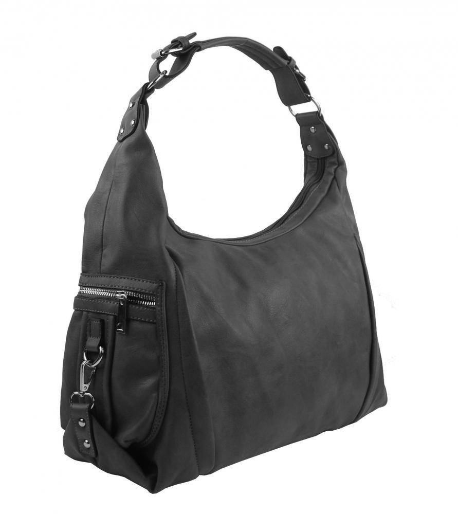 Tmavě šedá dámská kabelka přes rameno 109-MH