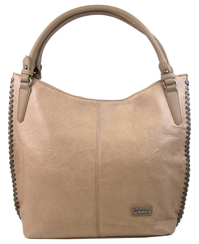 Moderní světle hnědá dámská kabelka přes rameno 3796-DE