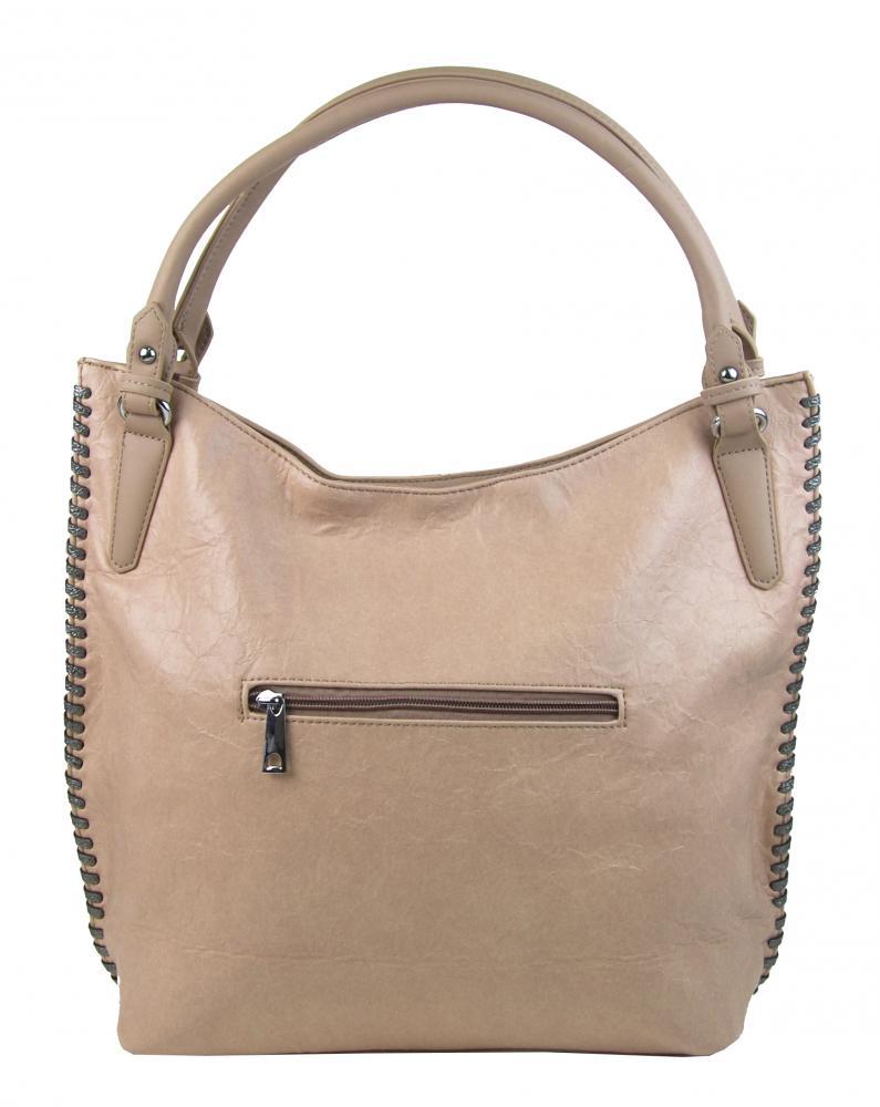 Moderná svetlo hnedá dámska kabelka cez plece 3796-DE