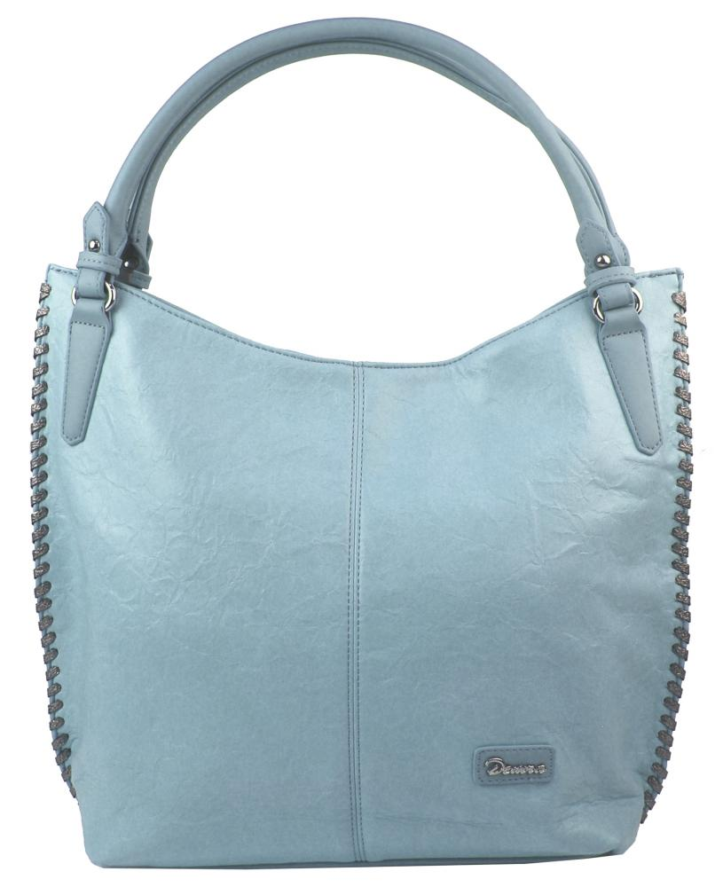Moderní světle modrá dámská kabelka přes rameno 3796-DE