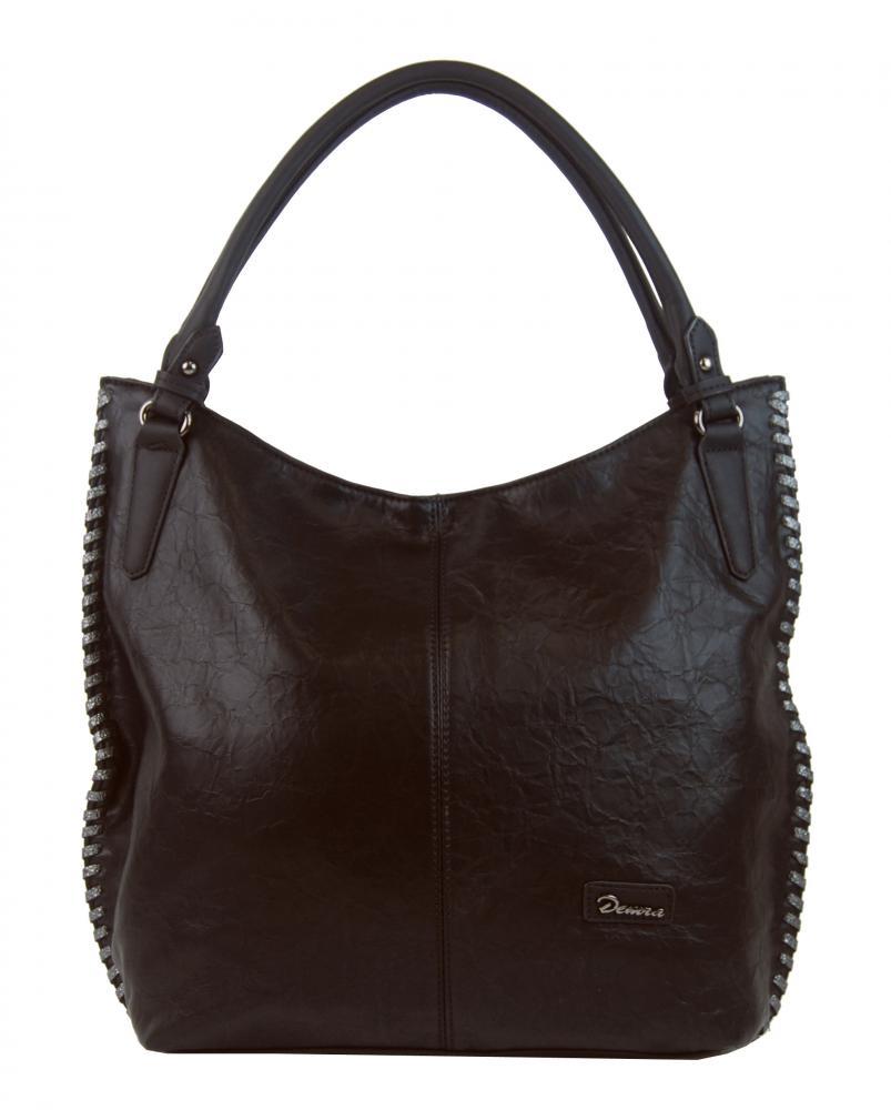 Moderná tmavo hnedá dámska kabelka cez plece 3796-DE