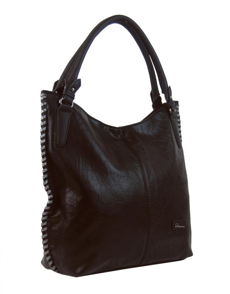 Moderní tmavě hnědá dámská kabelka přes rameno 3796-DE