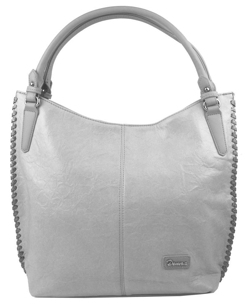 Moderní světle šedá dámská kabelka přes rameno 3796-DE