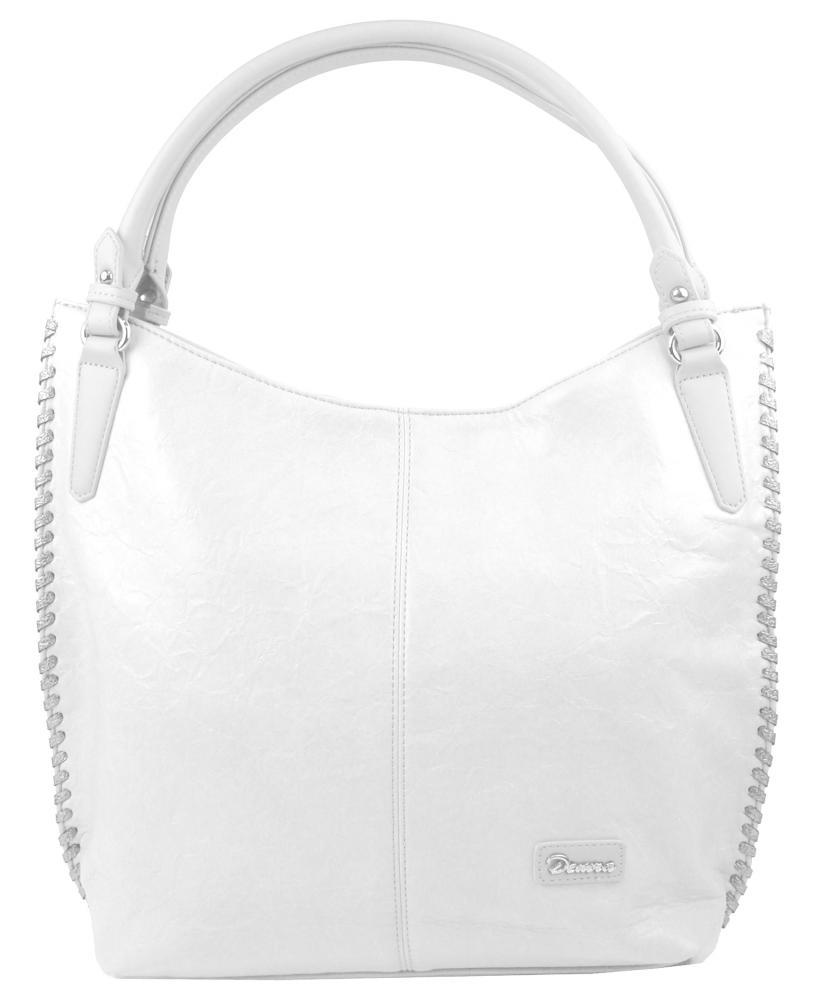 Moderní bílá dámská kabelka přes rameno 3796-DE
