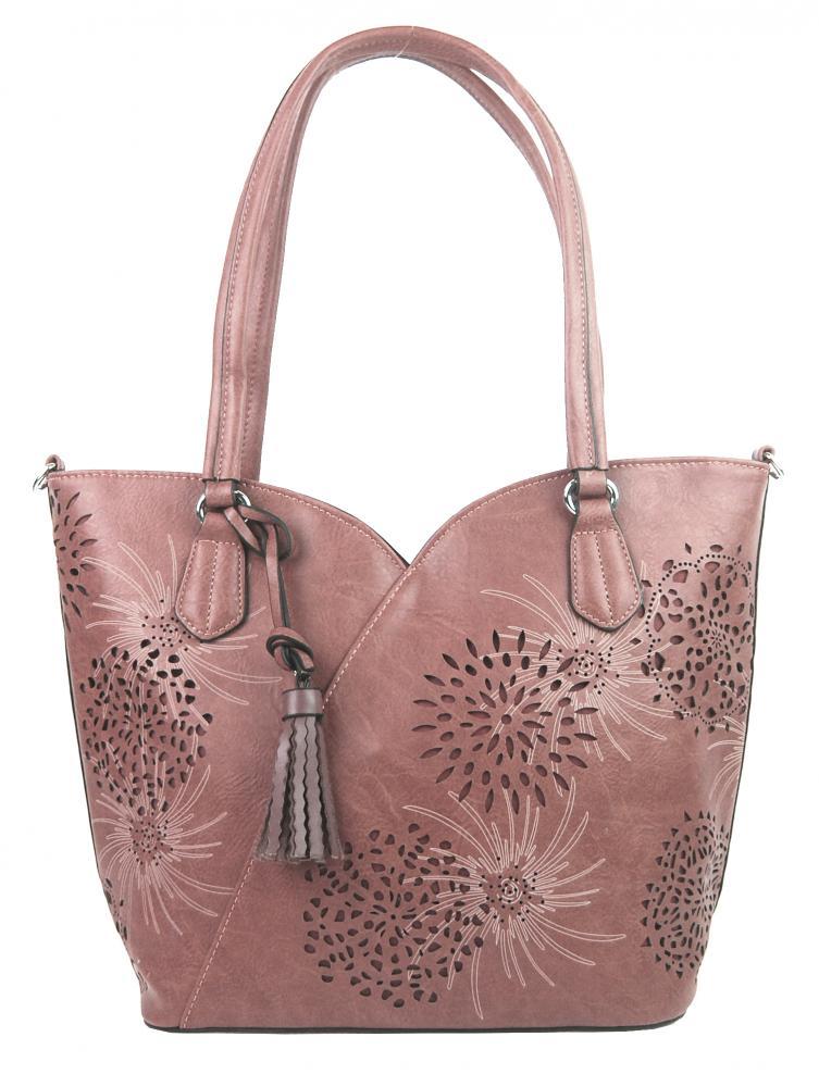 Pastelovo ružová dámska kabelka cez plece 4394-BB