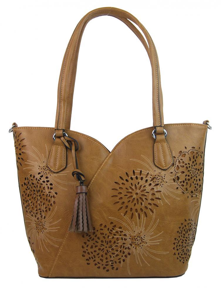 Hnedá dámska kabelka cez plece 4394-BB