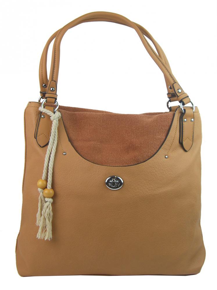 Bella Belly 4620-BB Veľká moderná hnedá dámska kabelka cez plece