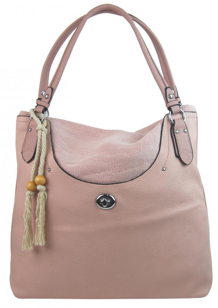 Bella Belly 4620-BB Veľká moderná ružová dámska kabelka cez plece