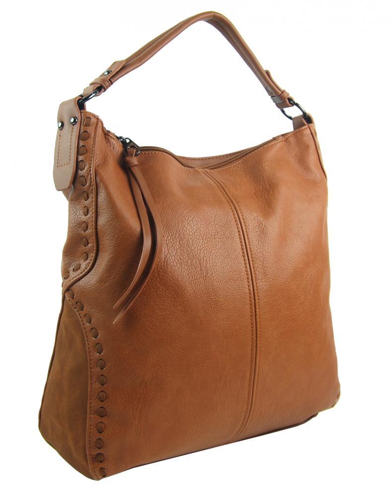 Hnědá dámská kabelka přes rameno 5091-BB