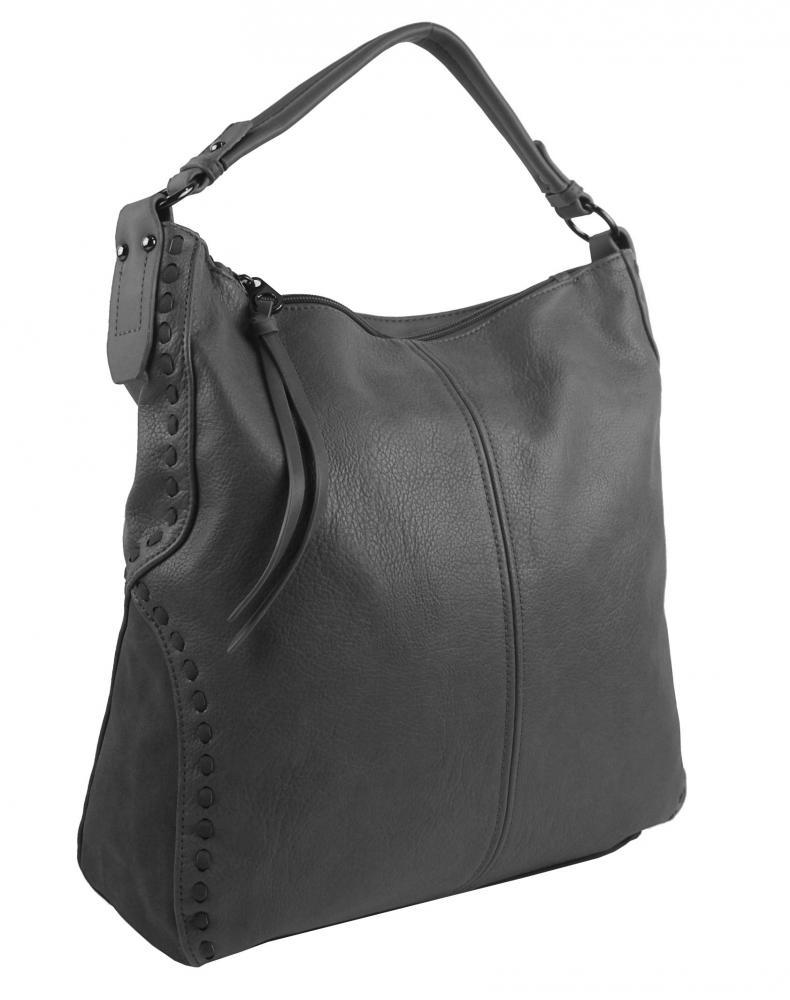 Tmavě šedá dámská kabelka přes rameno 5091-BB