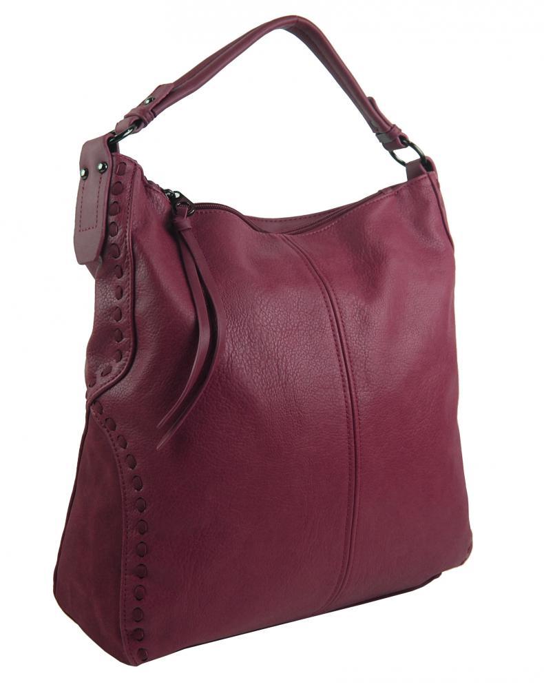 Vínová dámská kabelka přes rameno 5091-BB