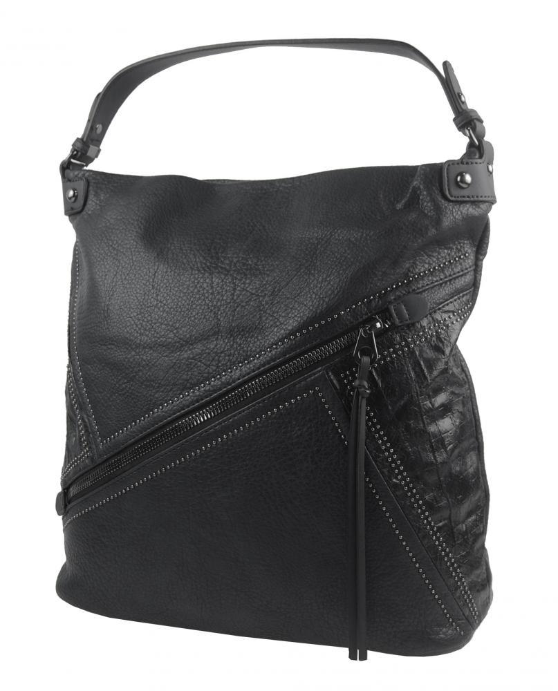 Velká černá dámská kabelka přes rameno 5120-BB