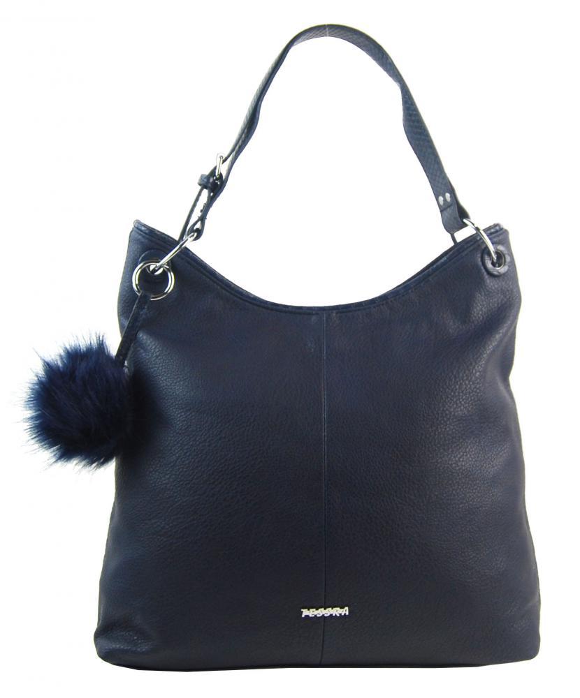 Moderní velká kabelka přes rameno 5121-TS tmavě modrá