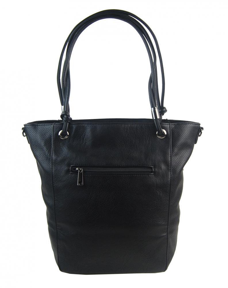 Veľká čierna dámska kabelka cez rameno s brmbolcom 5136-BB