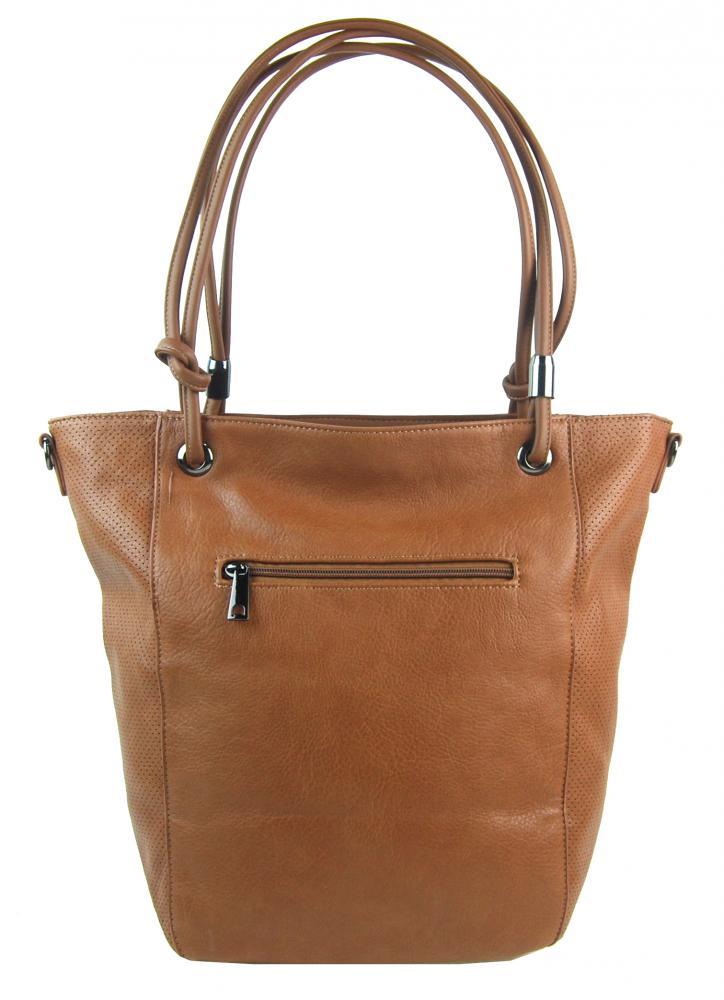 Veľká hnedá dámska kabelka cez rameno s brmbolcom 5136-BB