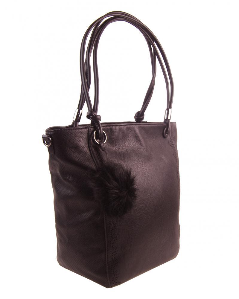 Veľká kávovo hnedá dámska kabelka cez rameno s brmbolcom 5136-BB