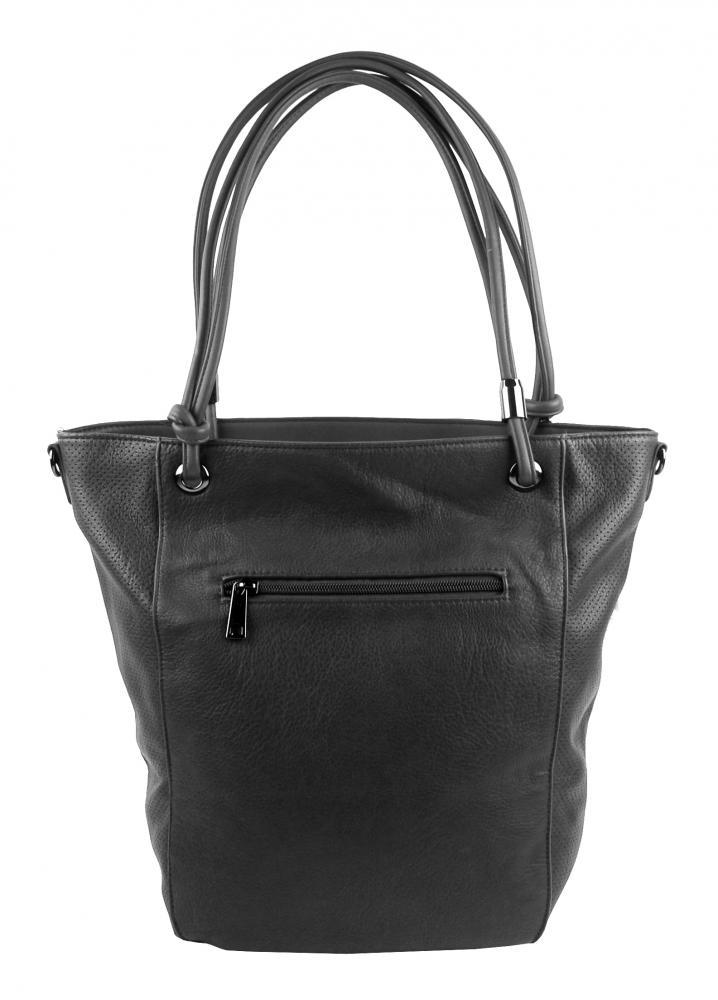 Veľká tmavo sivá dámska kabelka cez rameno s brmbolcom 5136-BB