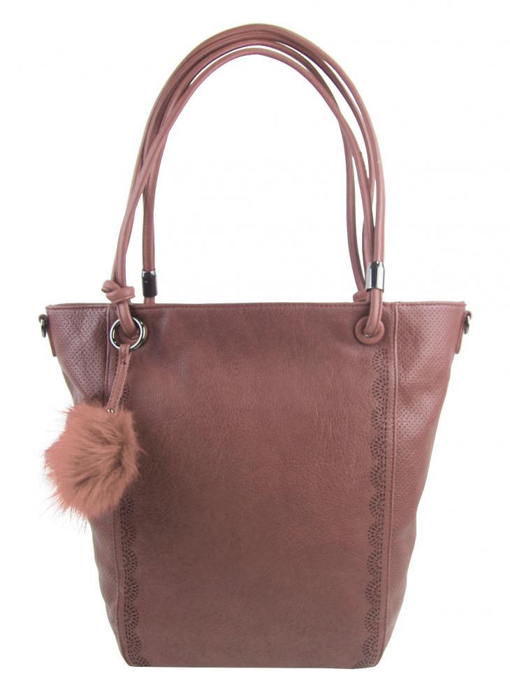Veľká staroružová dámska kabelka cez rameno s brmbolcom 5136-BB