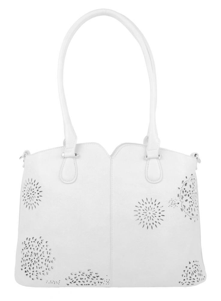 Bílá dámská kabelka přes rameno 5433-BB