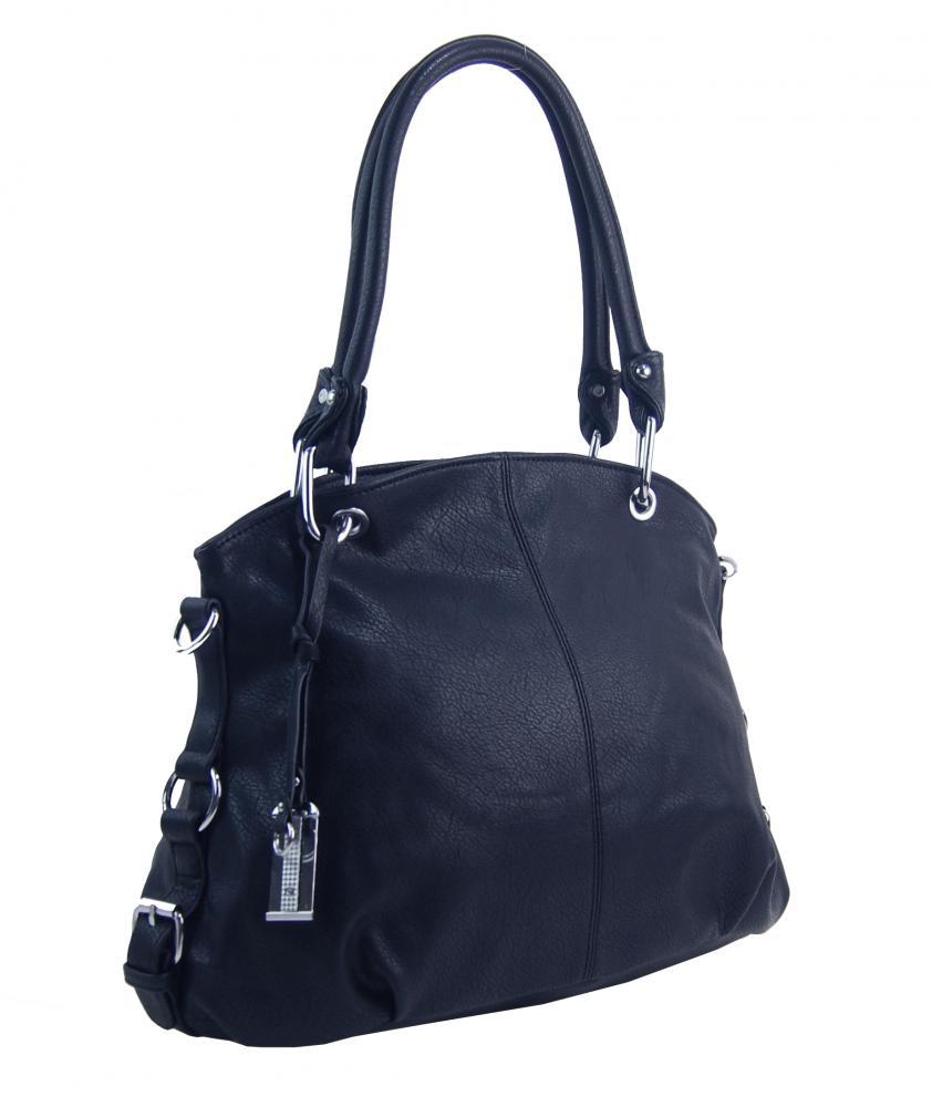 Velká tmavě modrá dámská kabelka přes rameno 57-MH
