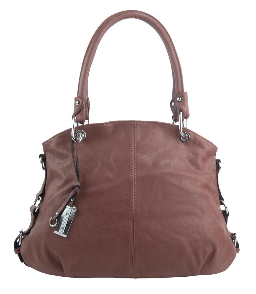 Velká starorůžová dámská kabelka přes rameno 57-MH